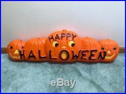 HTF Don Featherstone Blow Mold Happy Halloween Pumpkin Line Union 1997 VGUC