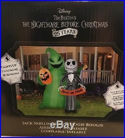 HTF OOGIE BOOGIE JACK SKELLINGTON Nightmare Before Christmas Airblown Inflatable