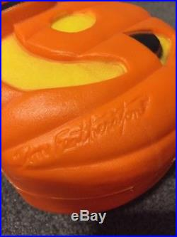 HTF Vtg Happy Halloween Plastic 5 Pumpkins Union Blow Mold Don Featherstone