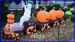 HUGE 14+ Foot Halloween Pumpkin Train Inflatable Airblown Yard Decoration