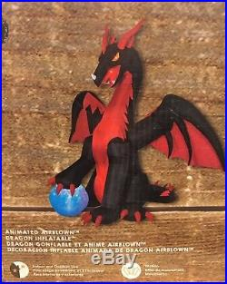 HUGE ANIMATED DRAGON With SWIRLING BALL Gemmy Halloween Airblown Inflatable Decor