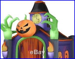 Halloween 10.5FT LIGHTED MUSICAL Inflatable HAUNTED HOUSE Airblown Lighted Yard