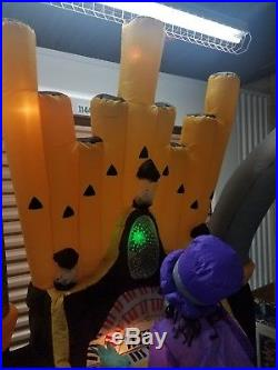 Halloween 11' Zombie Organ Playing Scene Inflatable Gemmy Dancing Zombies Works