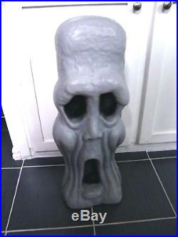 Halloween 28 Tombstone Zombie Blow Mold Skeleton Face Lights Up