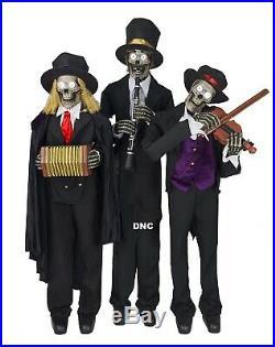 Halloween 3.75' Skeleton Bones Animated Trio Haunted House Prop Decor