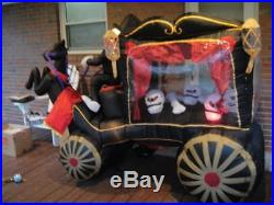 Halloween 8ft Grim Reaper/Rearing Horse Pulling Hearst Inflatable Gemmy VGC
