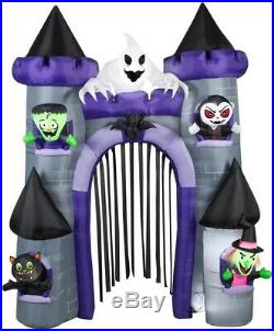 Halloween 9 Ft Haunted House Witch Arch Archway Inflatable Airblown Decoration