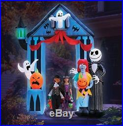 Halloween 9' Nightmare Before Christmas Archway With Jack Skellington & Sally