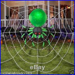 Halloween Air Blown 6 Ft By 6 Ft Spider On A Webb Inflatable Yard Decor Prop
