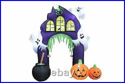 Halloween Air Blown Inflatable Yard Decoration Ghost Castle Pumpkin Archway Arch