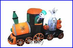Halloween Air Blown LED Inflatable Yard Decoration Skeleton Ghost Pumpkins Train