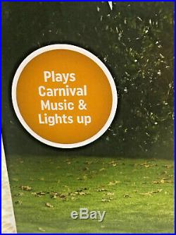 Halloween Airblown Inflatable Clown Archway CarnivalLight & Sound Gemmy 12 ft