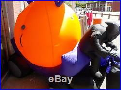 Halloween Airblown Inflatable Gemmy Reaper Carraige Kaleidoscope USED ONE TIME