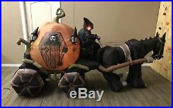 Halloween Airblown Inflatable Horse Carriage With Reaper Gemmy Blow Up Huge 12