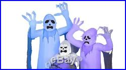 Halloween Airblown Inflatable ShortCircuit Ghosts Trio with Tombstone Scene by G