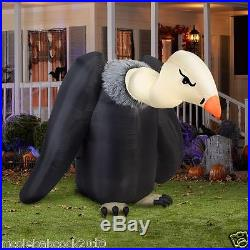 Halloween Animated Haunted House Vulture Bird Inflatable Airblown Prop Yard Deco