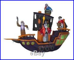 Halloween Animated Huge Pirate Ship 11.5 Ft Haunted House Inflatable Airblown