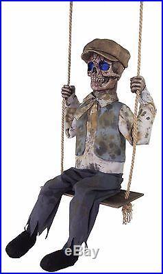 Halloween Animated Swinging Skeletal Boy Prop Haunted House