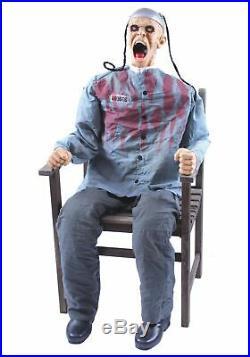 Halloween Animatronic Electric Chair Death Row Haunted House Prop =free Step Pad