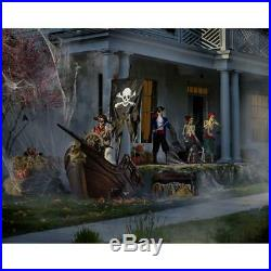 Halloween Decor Pirate Ship Animated Steering Wheel Haunted House Props 116 Inch