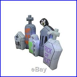 Halloween Decoration Inflatable Lights Tombstones Pathway Holiday Yard Decor NEW