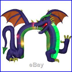 Halloween Flickering Archway Arch Fire & Ice Dragon Inflatable Airblown 14 Ft