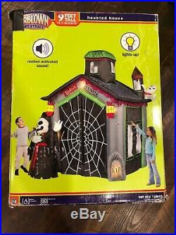 Halloween Gemmy Inflatable 9' Haunted Ghost House- Very Rare HTF 2007