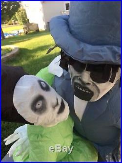Halloween Gemmy Organ Zombie Sound Lights Inflatable Airblown