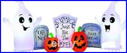 Halloween Ghost And Tombstone Cemetary Haunted House Inflatable Airblown 8 Ft