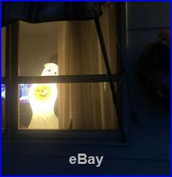 Halloween Ghost Light Blow Mold General Foam Plastics 33 Pumpkin Friendly Boo