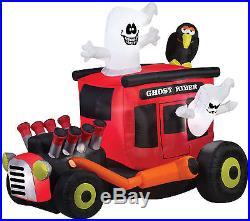 Halloween Ghost Rider Hot Rodder Rod Car Inflatable Airblown Rockabilly