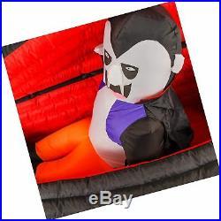Halloween Haunter 6ft Inflatable Dracula Vampire Coffin LED Yard Prop Decoration