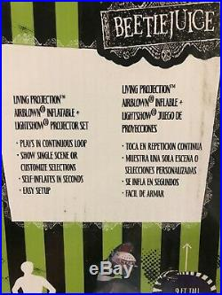 Halloween Holiday 9 ft Living Projection Airblown Inflatable Beetle juice NEW