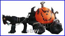 Halloween Inflatable Air Blown Blowup Decoration Grim Reaper Pumpkin Carriage