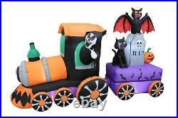Halloween Inflatable Grim Reaper Train Tombstone Bat Cat Pumpkin Yard Decoration
