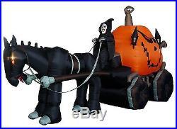 Halloween Inflatable Outdoor Decor Grim Reaper Pumpkin Large Lighted Airblown