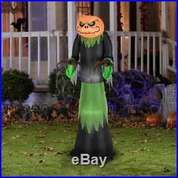 Halloween Inflatable Pumpkin Reaper Lights Up 5 ft Outdoor Yard Decor Spooky