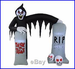 Halloween LED Air Blown Inflatable Decoration Ghost Skeleton Grim Reaper Archway