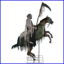Halloween LIFESIZE REAPERS ANIMATED HORSE RIDE PROP DECOR With STEP HERE PAD FREE