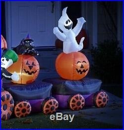 Halloween Lighted Airblown Inflatable Boo Ville Train Prop Yard Decor 15 Foot