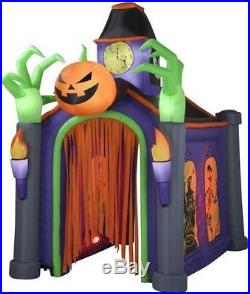 Halloween Musical Huge Haunted House Inflatable Airblown Cemetary Arch 10.5 Ft