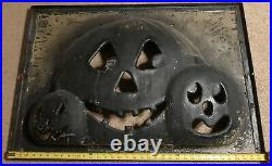 Halloween Trio Of Pumpkins Blow Mold Production Paint Mask Don Featherstone RARE
