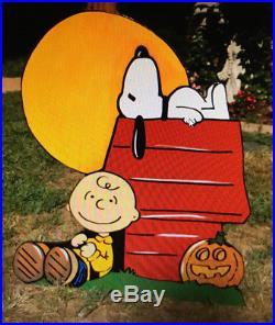Halloween Yard Art Peanuts Pumpkins