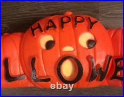 Happy Halloween Blow Mold 5 Pumpkin Jack O Lantern Featherstone Design