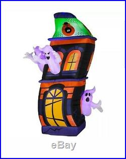 Haunted Ghost House Airblown Inflatable Halloween Yard Decor 8ft Gemmy