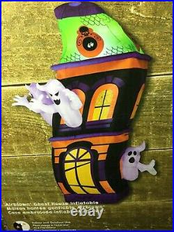 Haunted Ghost House Airblown Inflatable Halloween Yard Decor 8ft Gemmy New