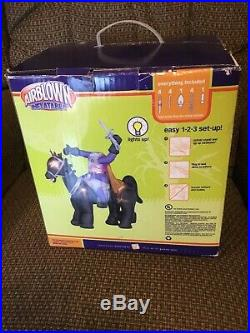 Headless Knight On Horse Inflatable Airblown Gemmy Halloween Over 7 Tall