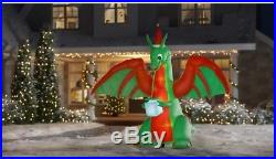 Home Accents Holiday 8 ft. W Pre-lit Inflatable Kaleidoscope-Dragon with Mouth