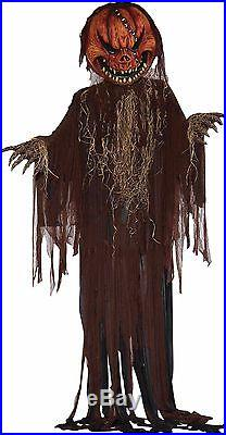 Huge 12 Foot! Scary Pumpkin Jack O Lantern Halloween Prop Scarecrow Decoration