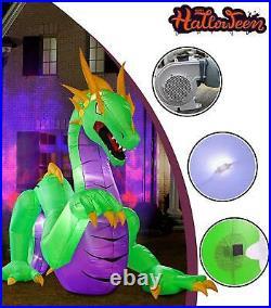 Huge 14 Ft Inflatable Dragon Decoration For Halloween Light Up